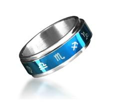 Titan ium-ste el-jew el Ry-The-zo dia c-twelve-conste ll ations-Leo-SagittaRius-CapRicoRn-AquaRius-ViRgo-Pisces-CanceR-Gem ini-Ring